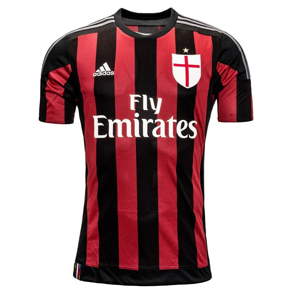 62.99 - Adidas AC Milan Home Youth 2015-2016 Replica Soccer Jersey ... c5ffd130d