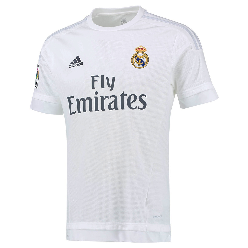57ac8161b Real Madrid Home Youth  15- 16 Replica Soccer Jersey (White Clear ...