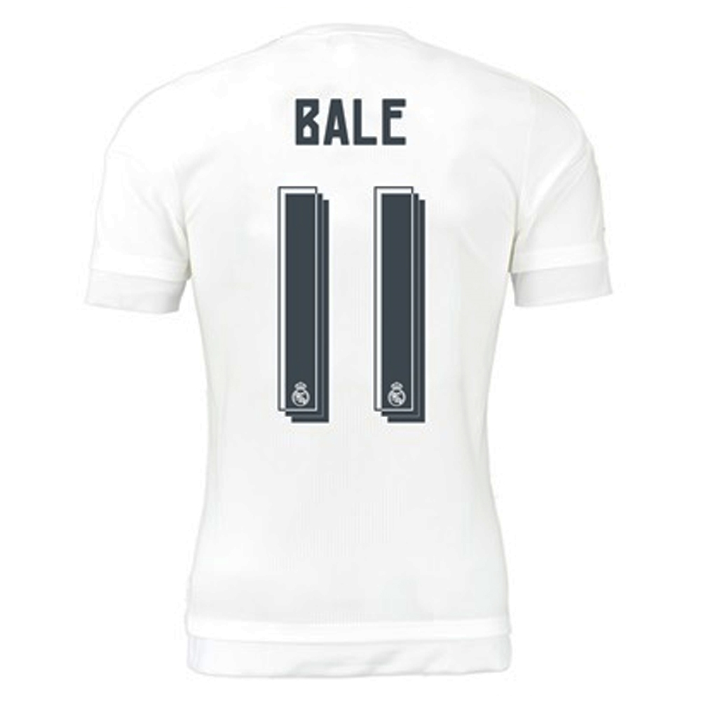 Adidas Real Madrid Bale 11 Home Youth 15 16 Replica Soccer Jersey White Clear Grey