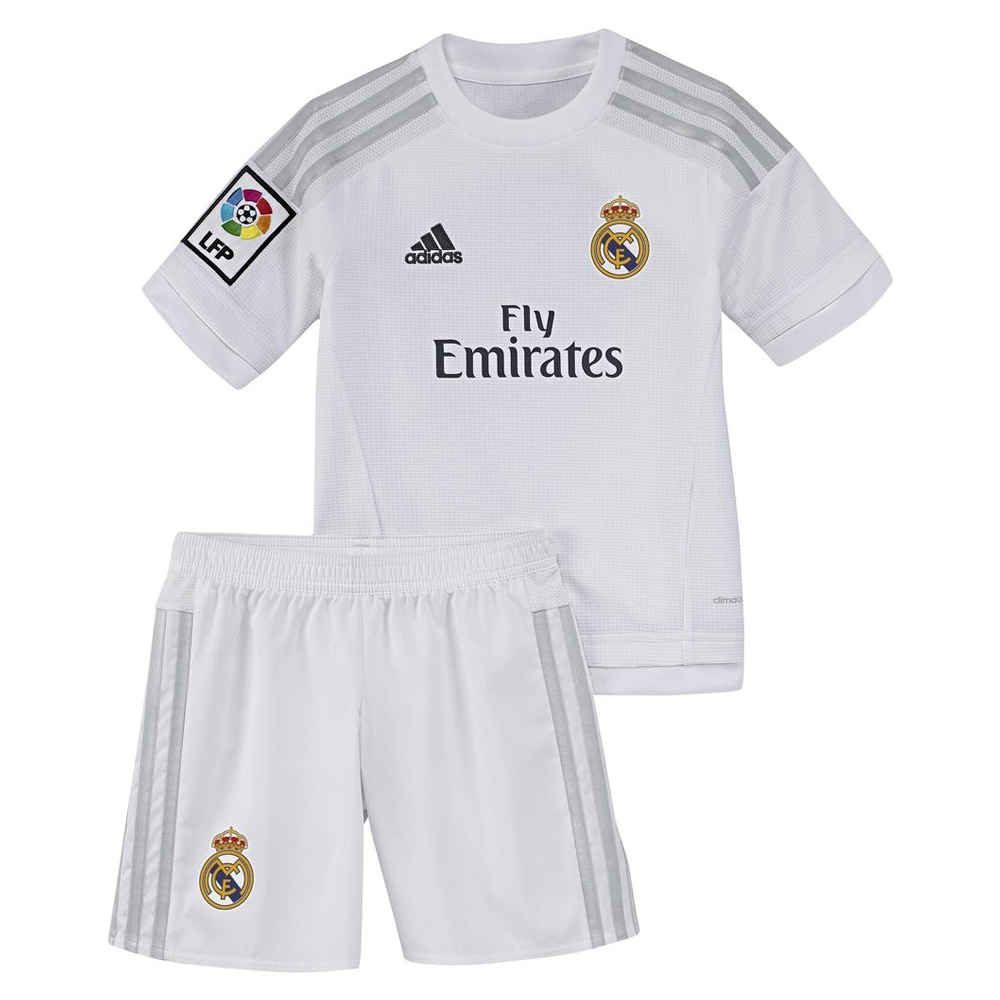 112cd41508a  64.99 Add to Cart for Price - Adidas Real Madrid Home Toddler Mini  15- 16  Soccer Kit (White Clear Grey)