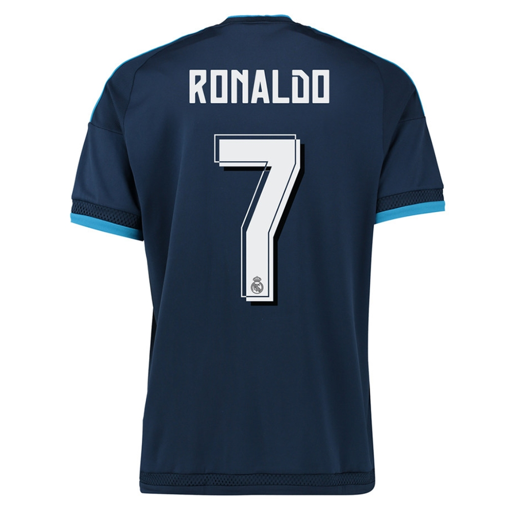 the latest 4b9c2 55211 Adidas Real Madrid 'RONALDO 7' Third Youth '15-'16 Soccer Jersey (Night  Indigo/Bright Blue/White)