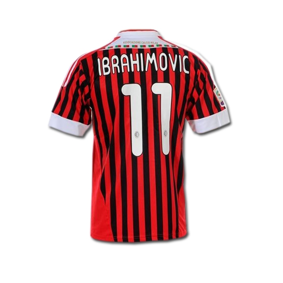 best service 64520 a7e3a Adidas AC Milan 'IBRAHIMOVIC 11' Youth Home '2011-2012 Replica Soccer  Jersey (Red/Black/White)
