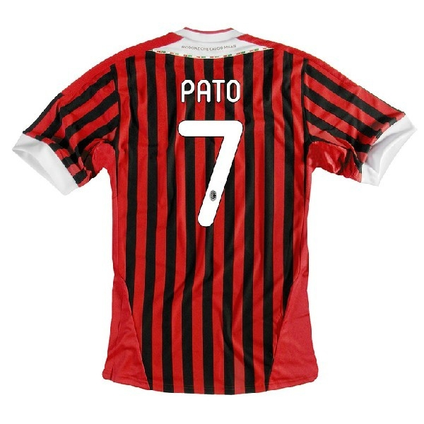 new concept 3c7cb 3f78a Adidas AC Milan 'PATO 7' Youth Home '2011-2012 Replica Soccer Jersey  (Red/Black/White)