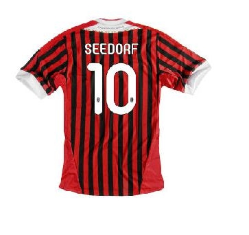 cheaper 2d44c dcfd2 Adidas AC Milan 'SEEDORF 10' Youth Home 2011-2012 Replica Soccer Jersey  (Red/Black/White)