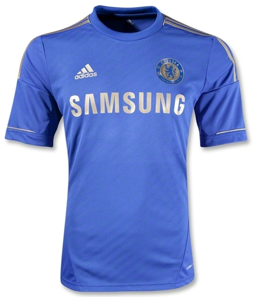 size 40 6a7b0 74083 Adidas Chelsea Home Youth '12-'13 Replica Soccer Jersey (Blue/Gold)