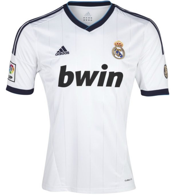 half off c84d2 ed993 Adidas Real Madrid Home Youth '12-'13 Replica Soccer Jersey (White/Navy)