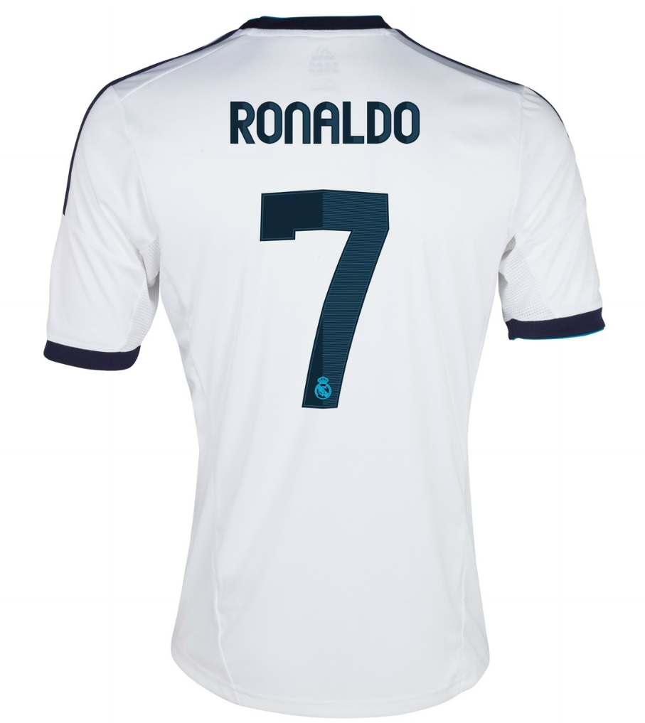 new product 580fe d6672 Adidas Real Madrid Youth 'RONALDO 7' Home '12-'13 Replica Soccer Jersey  (White/Navy)