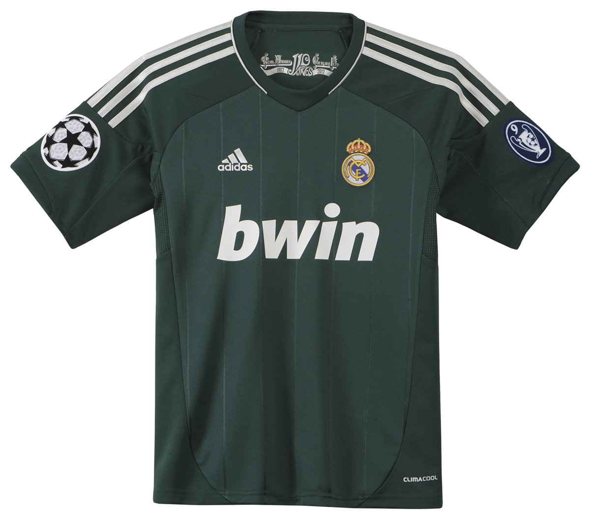 new style 0af3f 5acab Adidas Youth Real Madrid '12-'13 Replica Third Jersey (Ivy/Metallic Silver)