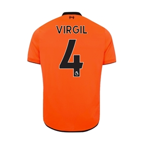 New Balance Youth Liverpool 'VIRGIL 4' Third '17-'18 Jersey (Bold Citrus)