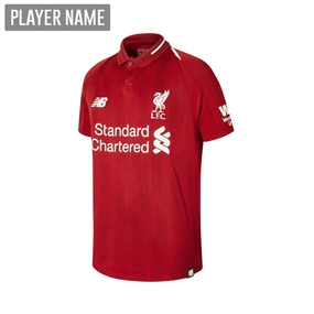 New Balance Youth Liverpool Home Jersey '18-'19 (Red Pepper)