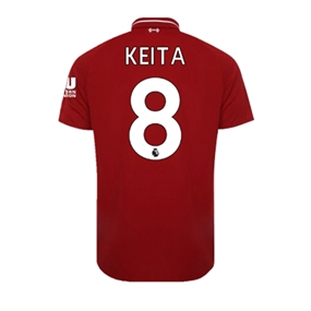 New Balance Youth Liverpool 'KEITA 8' Home Jersey '18-'19 (Red Pepper)