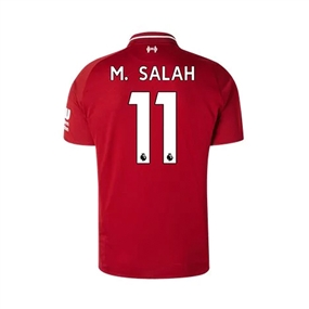 New Balance Youth Liverpool 'M. SALAH 11' Home Jersey '18-'19 (Red Pepper)