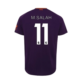 New Balance Youth Liverpool 'M. SALAH 11' Away Jersey '18-'19 (Deep Violet)