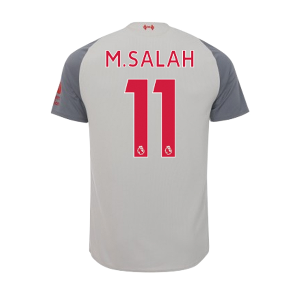 adf62cfbc94 New Balance Youth Liverpool  M. SALAH 11  Third Jersey  18- 19 (Grey ...