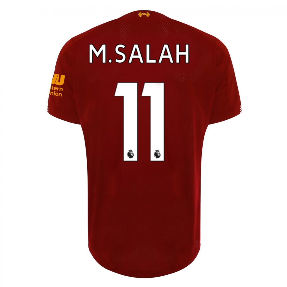 the latest 08960 7398c New Balance Youth Liverpool 'M. SALAH 11' Home Jersey '19-'20 (Red  Pepper/White)
