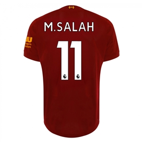 New Balance Youth Liverpool 'M. SALAH 11' Home Jersey '19-'20 (Red Pepper/White)
