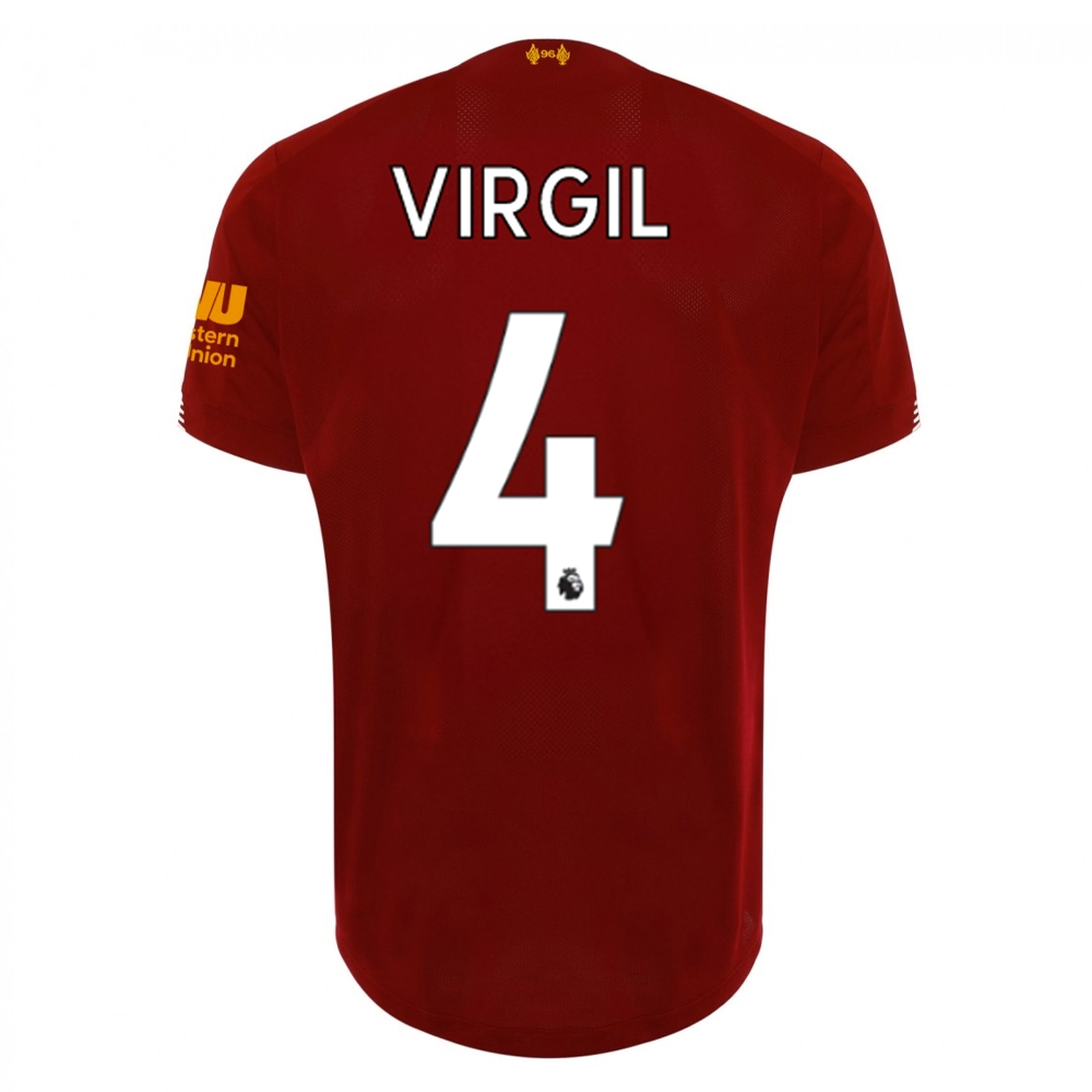 43948e8dd7b New Balance Youth Liverpool  VIRGIL 4  Home Jersey  19- 20 (Red ...