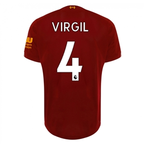 New Balance Youth Liverpool 'VIRGIL 4' Home Jersey '19-'20 (Red Pepper/White)