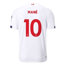 New Balance Youth Liverpool 'MANE 10' Away Jersey '19-'20 (White/Navy/Team Red)