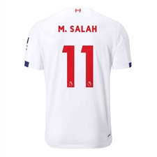 New Balance Youth Liverpool 'M. SALAH 11' Away Jersey '19-'20 (White/Navy/Team Red)