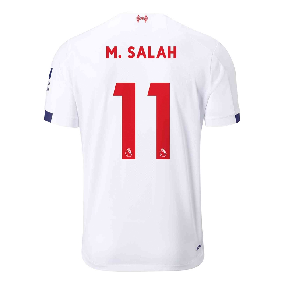 detailing aed06 8333f New Balance Youth Liverpool 'M. SALAH 11' Away Jersey '19-'20  (White/Navy/Team Red)