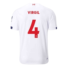 New Balance Youth Liverpool 'VIRGIL 4' Away Jersey '19-'20 (White/Navy/Team Red)
