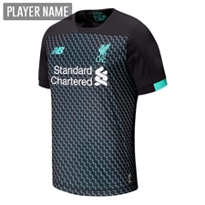 New Balance Youth Liverpool Third Jersey '19-'20 (Black/White/Teal)