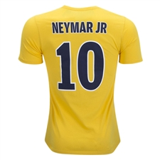 Nike Youth PSG NEYMAR 10 Away T-Shirt (Tour Yellow/Midnight Navy)