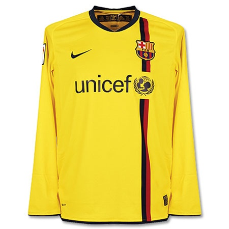 96d977bc5af $44.99 - Nike FC Barcelona Youth Away Long Sleeve '08-'09 Jersey ...
