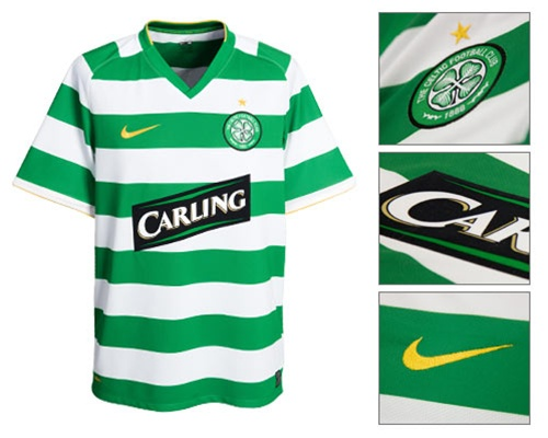 big sale f54dd bd88c Nike Youth Celtic FC '08-'09 Home Replica Jersey (AppleGreen/White/Gold)