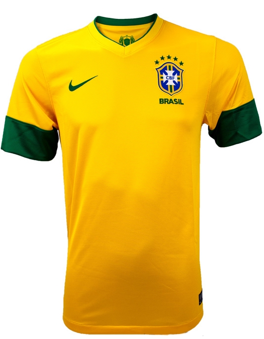 timeless design a64d1 e4d01 Nike Brasil Home '12 - '13 Youth Replica Soccer Jersey (Varsity Maize)