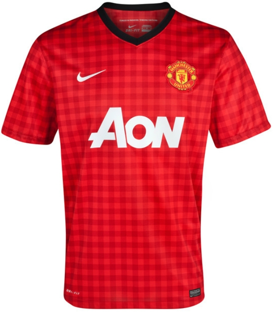 new concept 8caf5 599bd Nike Manchester United Home 2012-2013 Youth Replica Soccer Jersey (Diablo  Red/White/Black)