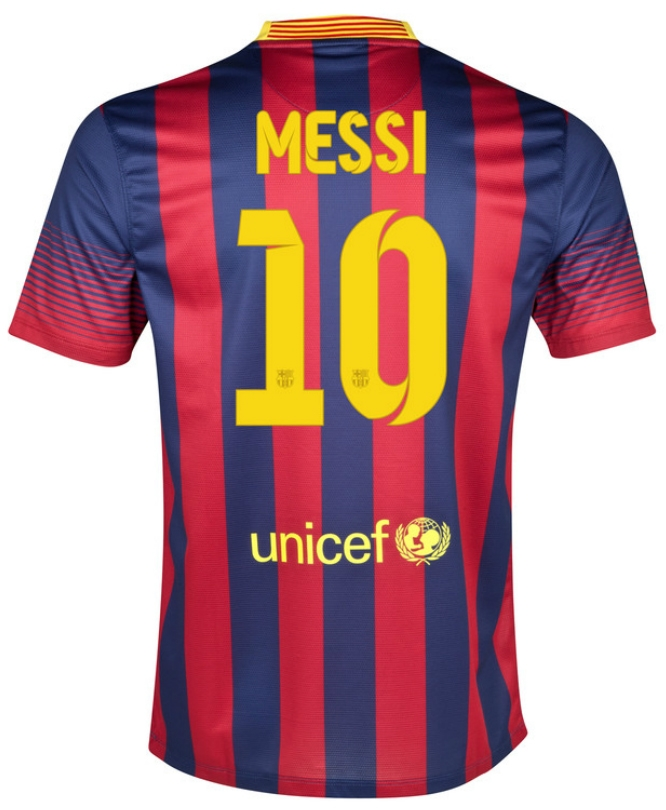 Nike FC Barcelona 'MESSI 10' Home Youth '13-'14 Replica Soccer