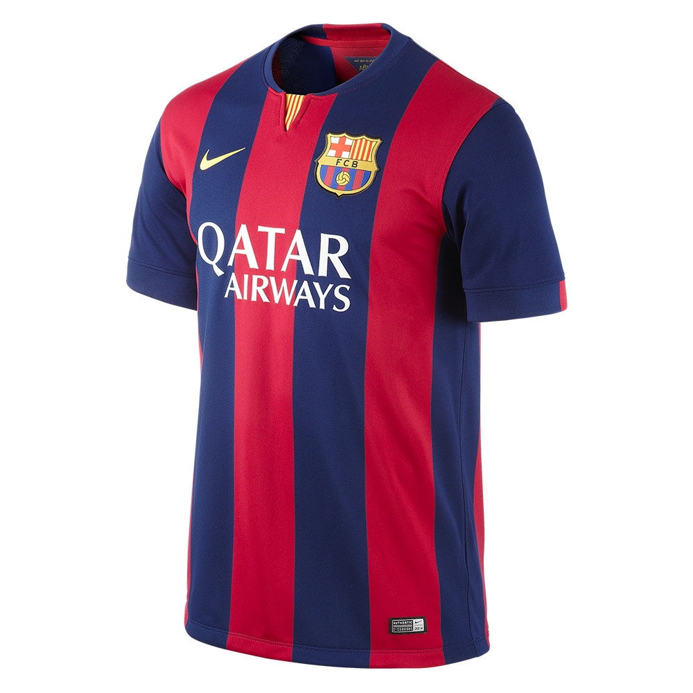 Nike FC Barcelona Home  14- 15 Youth Replica Soccer Jersey (Loyal  Blue Noble Red Sunlight)  7140660ab