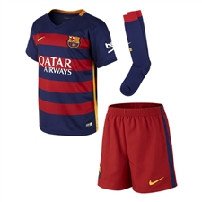 Nike FC Barcelona Home Little Boys '15-'16 Soccer Kit (Loyal Blue/Storm Red)