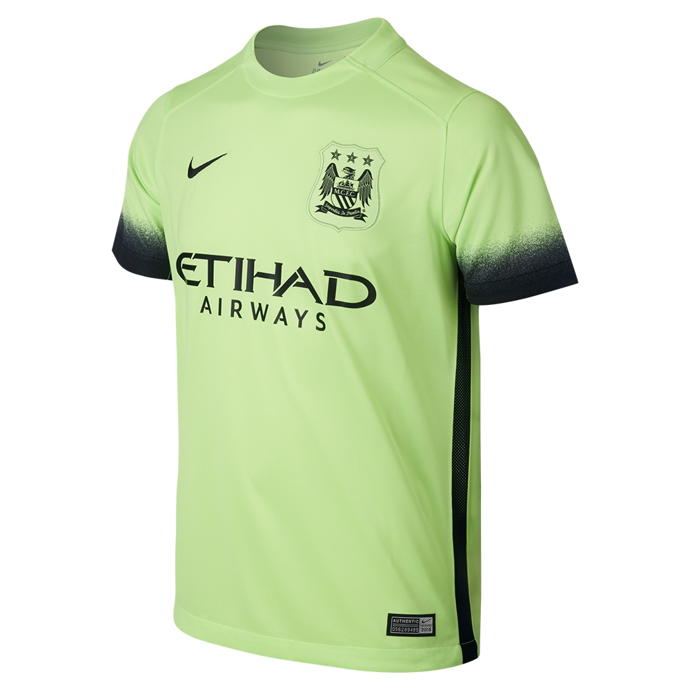 Nike Manchester City Youth Third  15- 16 Soccer Stadium Jersey ... 4dce4992bca9