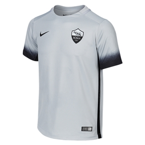 Nike Youth A.S. Roma Third '15-'16 Stadium Soccer Jersey (Wolf Grey/Black)