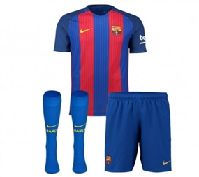Nike FC Barcelona Home Little Boys '16-'17 Soccer Kit (Sport Royal/Gym Red/University Gold)