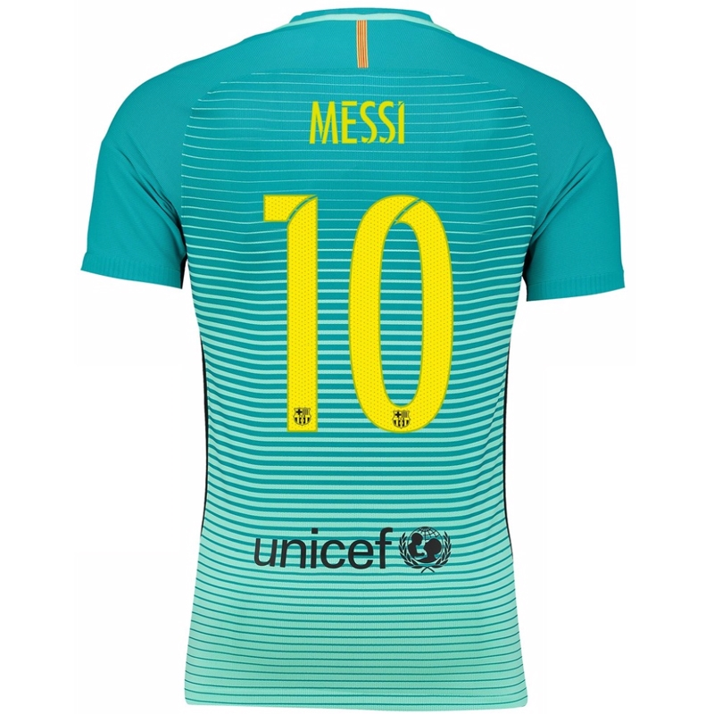 6eaa4209e81 Nike FC Barcelona Youth  MESSI 10   16- 17 Third Soccer Jersey ...