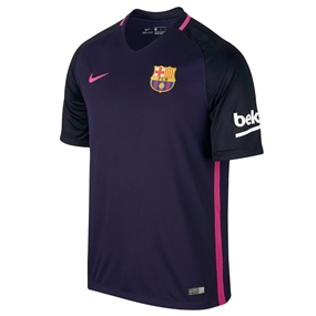 Nike Youth FC Barcelona '16-'17 Away Soccer Stadium Jersey (Purple Dynasty/Hyper Pink)