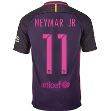 Nike FC Barcelona Away 'NEYMAR 11' '16-'17 Youth Soccer Jersey (Purple Dynasty/Hyper Pink)