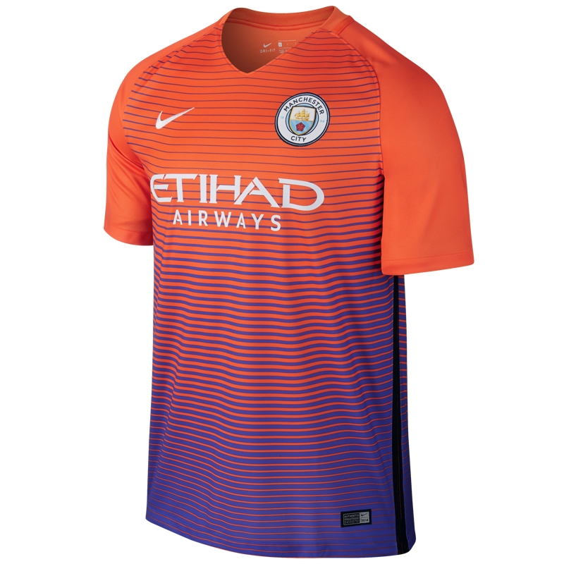 Nike Youth Manchester City Third '16-'17 Soccer Stadium Jersey (Safety  Orange