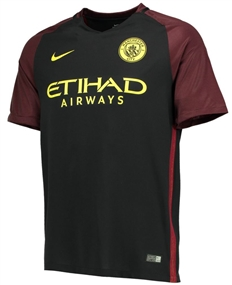 Nike Youth Manchester City Away '16-'17 Soccer Stadium Jersey (Black/Team Red/Opti Yellow)