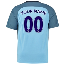 Nike Manchester City Youth 'CUSTOM' Home '16-'17 Soccer Stadium Jersey (Field Blue/Midnight Navy)