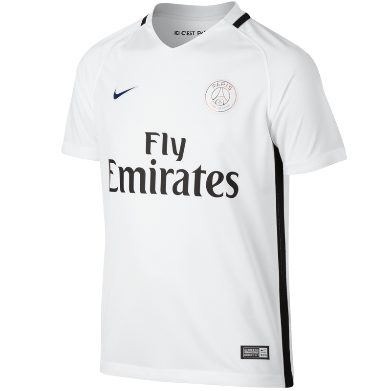 newest 4666c ca6ff Nike Paris St. Germain Youth Third '16-'17 Soccer Jersey (White/White)