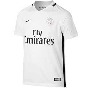 Nike Paris St. Germain Youth Third '16-'17 Soccer Jersey (White/White)