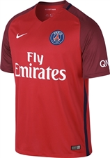 Nike Paris St. Germain Away '16-'17 Youth Soccer Jersey (Challenge Red/Team Red/White)