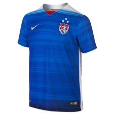Nike Youth USA 2015 Away 3 Star Soccer Jersey (Game Royal/Loyal Blue/White)