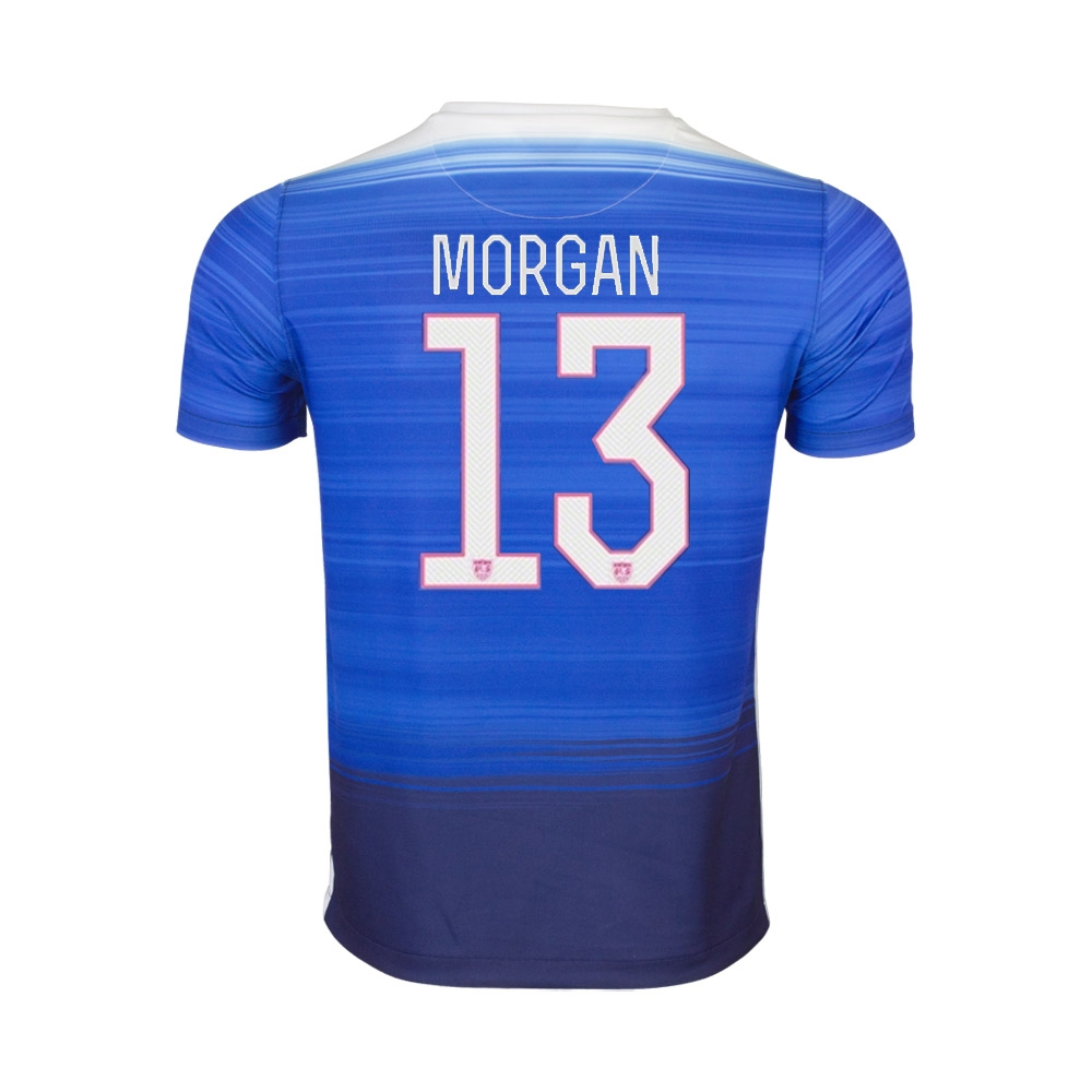premium selection 5c6a6 83bac Nike Youth USA 2015 'MORGAN 13' Away 3 Star Soccer Jersey (Game Royal/Loyal  Blue/White)