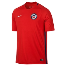 Nike Youth Chile 2016 Stadium Home Soccer Jersey (Red/White)